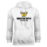 White Fleece Hoodie-W Wentworth Leopards Stacked
