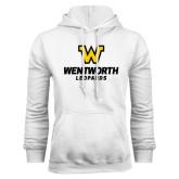 White Fleece Hoodie-W Wentworth Leopards Stacked