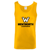 Gold Tank Top-W Wentworth Leopards Stacked