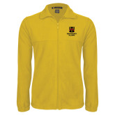 Fleece Full Zip Gold Jacket-Shield Logo Wentworth Alumni