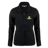 Ladies Black Softshell Jacket-W Wentworth Leopards Stacked