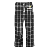Black/Grey Flannel Pajama Pant-W Wentworth Leopards Stacked