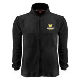 Fleece Full Zip Black Jacket-W Wentworth Leopards Stacked