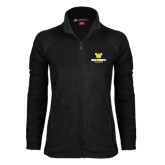Ladies Fleece Full Zip Black Jacket-W Wentworth Leopards Stacked