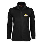 Ladies Fleece Full Zip Black Jacket-W Wentworth Leopards Stacked
