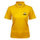 Ladies Gold Dry Mesh Polo-W Wentworth Leopards Stacked