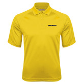 Gold Textured Saddle Shoulder Polo-Wentworth