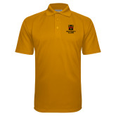 Gold Textured Saddle Shoulder Polo-Shield Logo Wentworth Alumni