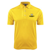 Gold Dry Mesh Polo-W Wentworth Leopards Stacked