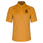 Gold Dri Mesh Pro Polo-Shield Logo Wentworth Alumni