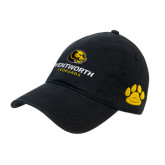 Black Twill Unstructured Low Profile Hat-Official Logo