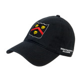 Black Twill Unstructured Low Profile Hat-Wentworth Shield