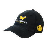 Black OttoFlex Unstructured Low Profile Hat-W Wentworth Leopards Stacked