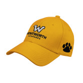 Gold Heavyweight Twill Pro Style Hat-W Wentworth Leopards Stacked