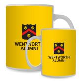 Full Color White Mug 15oz-Shield Logo Wentworth Alumni