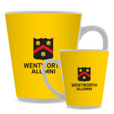 Full Color Latte Mug 12oz-Shield Logo Wentworth Alumni