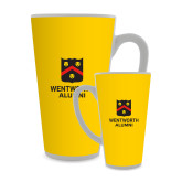 Full Color Latte Mug 17oz-Shield Logo Wentworth Alumni