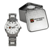 Mens Stainless Steel Fashion Watch-Shield Logo Flat Wentworth Alumni