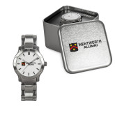 Ladies Stainless Steel Fashion Watch-Shield Logo Flat Wentworth Alumni