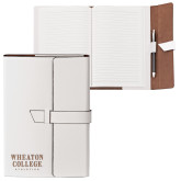 Fabrizio Junior White Portfolio w/Loop Closure-Wheaton College Athletics Engraved