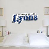 1 ft x 2 ft Fan WallSkinz-Wheaton College Lyons Wordmark