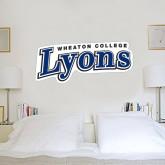 2 ft x 4 ft Fan WallSkinz-Wheaton College Lyons Wordmark