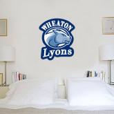 2.5 ft x 3 ft Fan WallSkinz-Wheaton Lyons - Official Logo