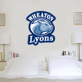 3.5 ft x 4 ft Fan WallSkinz-Wheaton Lyons - Official Logo