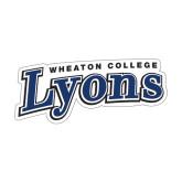 Medium Decal-Wheaton College Lyons Wordmark