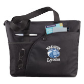 Excel Black Sport Utility Tote-Wheaton Lyons - Official Logo