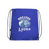 Royal Drawstring Backpack-Wheaton Lyons - Official Logo