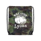 Camo Drawstring Backpack-Wheaton Lyons - Official Logo