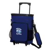 30 Can Blue Rolling Cooler Bag-Wheaton Lyons - Official Logo