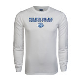 White Long Sleeve T Shirt-Swimming and Diving w/ Lyon Head