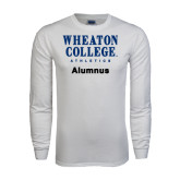 White Long Sleeve T Shirt-Alumnus