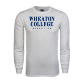 White Long Sleeve T Shirt-Wheaton College Athletics