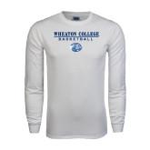 White Long Sleeve T Shirt-Basketball w/ Lyon Head