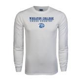 White Long Sleeve T Shirt-Cross Country w/ Lyon Head