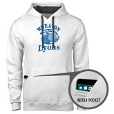 Contemporary Sofspun White Hoodie-Wheaton Lyons - Official Logo