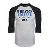 White/Black Raglan Baseball T-Shirt-Dad