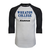 White/Black Raglan Baseball T-Shirt-Alumnus