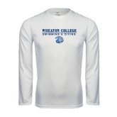 Performance White Longsleeve Shirt-Swimming and Diving w/ Lyon Head