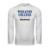 Performance White Longsleeve Shirt-Alumnus