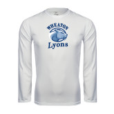 Performance White Longsleeve Shirt-Wheaton Lyons - Official Logo