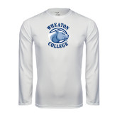 Performance White Longsleeve Shirt-Wheaton College - Lyon Head