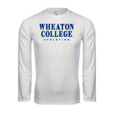 Syntrel Performance White Longsleeve Shirt-Wheaton College Athletics