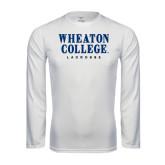 Performance White Longsleeve Shirt-Lacrosse