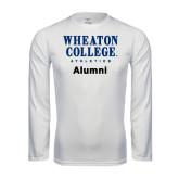 Syntrel Performance White Longsleeve Shirt-Alumni