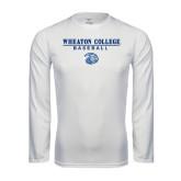 Syntrel Performance White Longsleeve Shirt-Baseball w/ Lyon Head