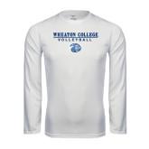 Syntrel Performance White Longsleeve Shirt-Volleyball w/ Lyon Head